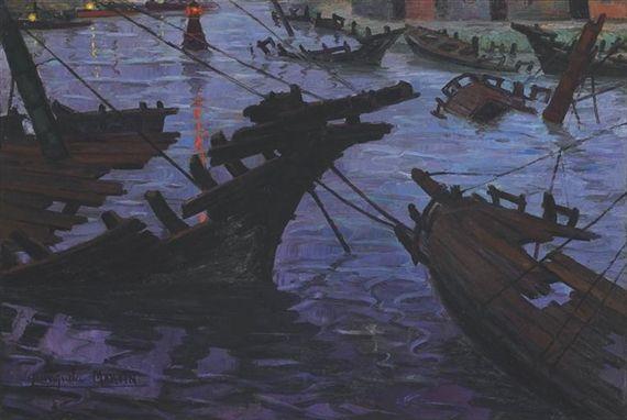 Cementerio de barcos - Benito Quinquela Martin