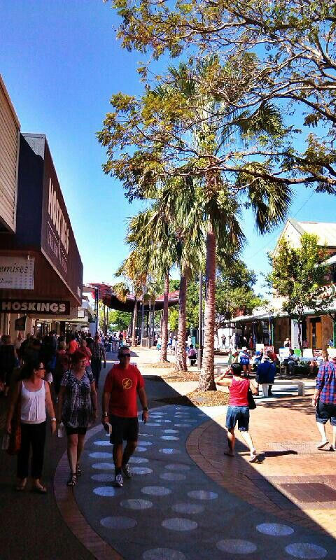 Smith Street Mall, in the heart of Darwin city.