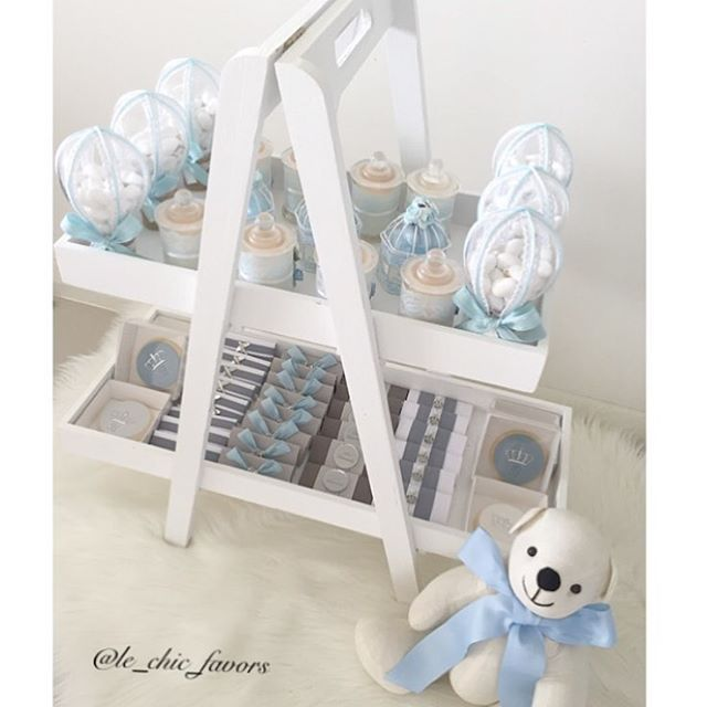 My Baby boy arrangement 💙💙 cookies favors @jojsweets 💙favors @le_chic_favors 💙hot air ballon & cage bombonieres by the amazing @cherished_bonbon_chocolates 💙silver name by the lovely @lettersbyloulou 💙candles by the lovely @kyliescandlesandmelts  decorated by @le_chic_favors 💙any inquires  plz DM me or Email me to…