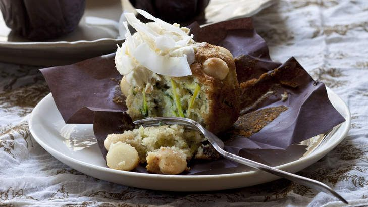 This is more or less a zucchini version of carrot cake. The sweetness of the zucchini is offset by the icing and lime.