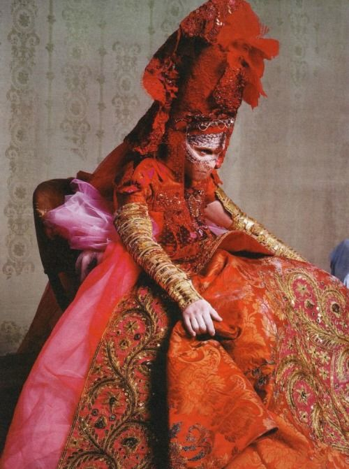 Madonna in 'Madonna Unbound' Photographer: Steven Klein Ensemble: Christian Lacroix Haute Couture F/W 2002/03 W Magazine April 2003