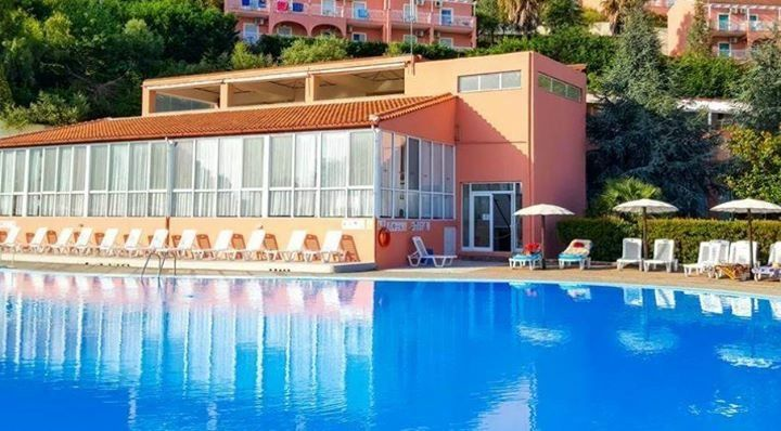 The All Inclusive Hotel Up Hill From Lagoon Apartments In Sidari Corfu Greece