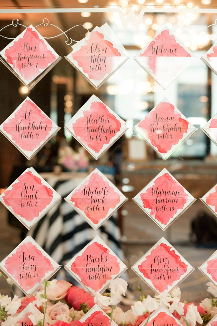 Unique Escort Card Displays - Style Me Pretty