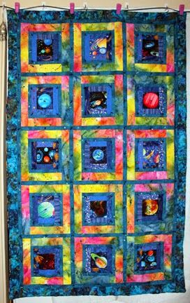 Laura sews stuff random notions nikko 39 s outer space for Outer space quilt patterns
