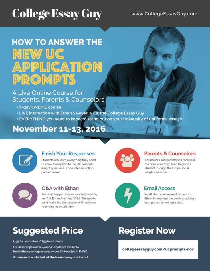 University of california application essay online