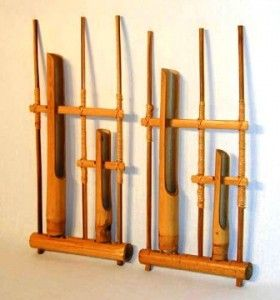 Angklung, traditional musical instruments of Sundanese