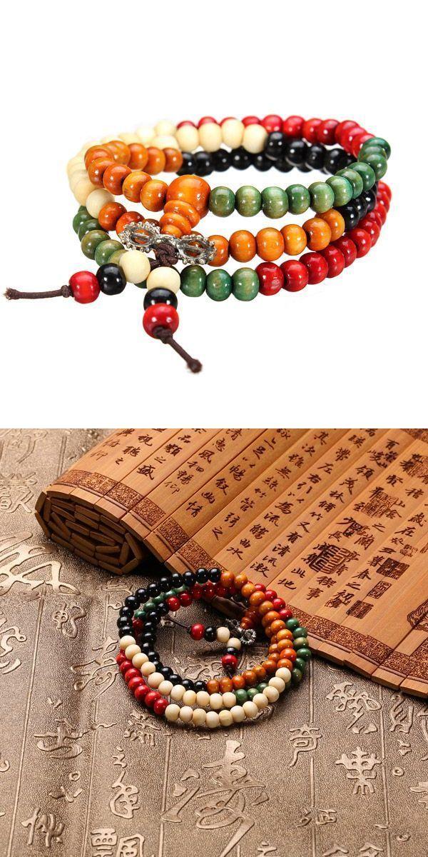 Bracelets Like Life Token Uni Tibetan Colorful Buddha Buddhist Prayer Beads Bracelet Multilayer Cuff Embroidery Thread