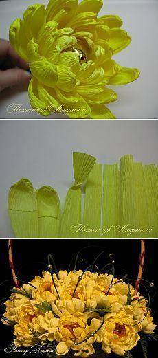 Мастер-класс по свит-дизайну. Конфетная хризантема. | Конфетный рай