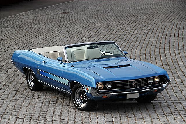 1970FordTorino GT 429 - I had one of these, only with a 390. The rear end was so light I used to spin out all the time.. in fact I slammed it into a utility pole one day when I put my foot in it just a little to much leaving a friends house! Fun car when going straight though.