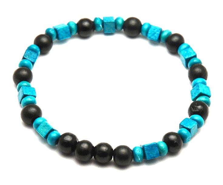 Kralen armband mannen turquoise zwart