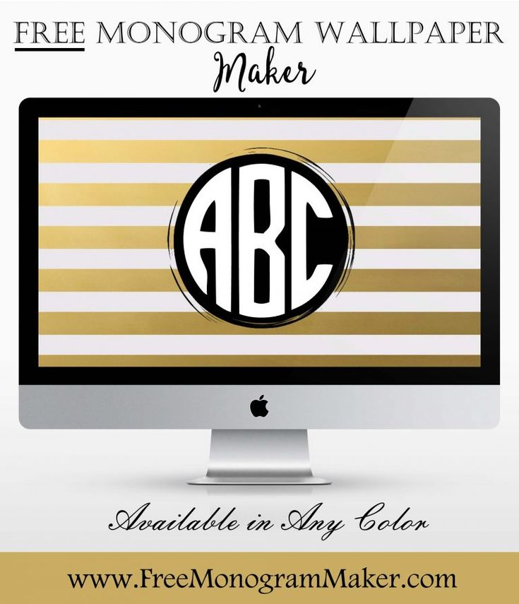 monogram wallpaper maker