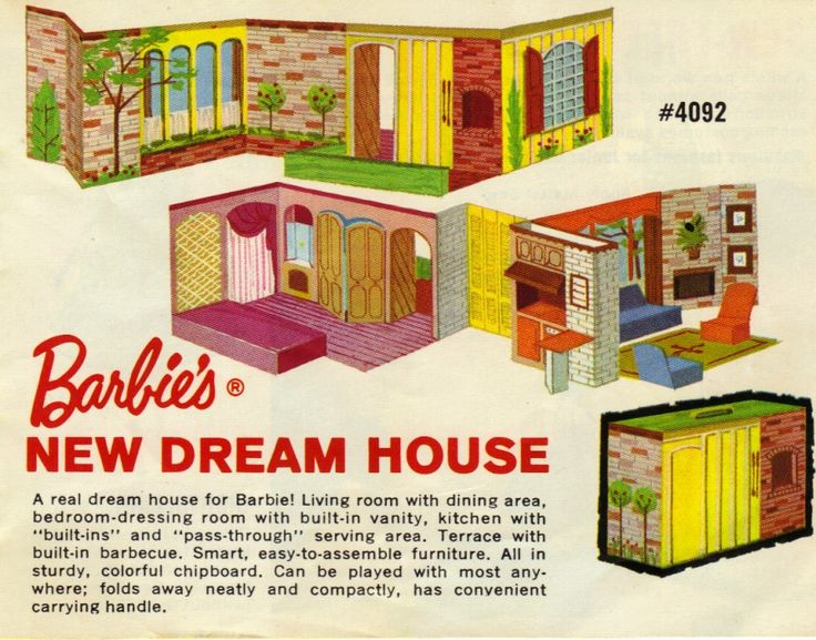 "I think this Barbie Dream House was designed by Mattel as a Sears exclusive.  My younger sister got this for Christmas in 1964. I loved this Barbie Dream House. It had such ""suburban elegance""."