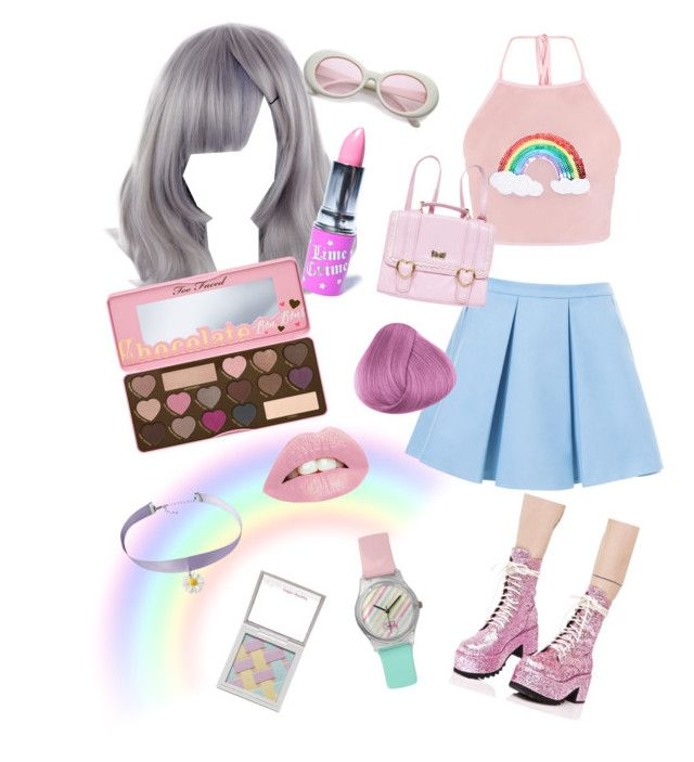 """Pastel"" by alklncirem on Polyvore featuring moda, Lime Crime, Too Faced Cosmetics, Hard Candy, Dr. Martens ve Zara"