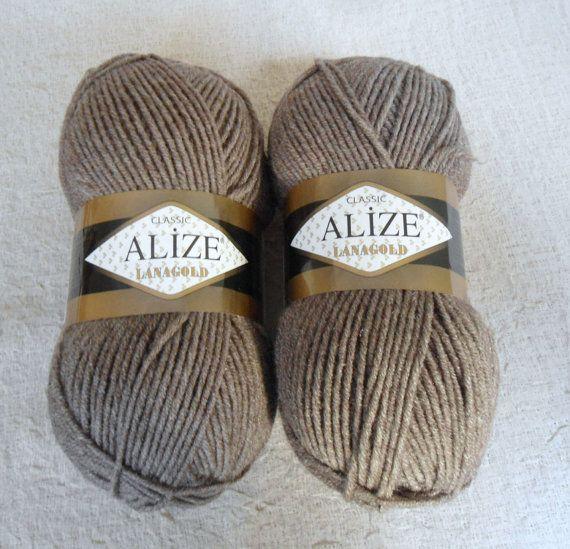 Light brown yarn Wool yarn knitting yarn fashion by Yarnshopping