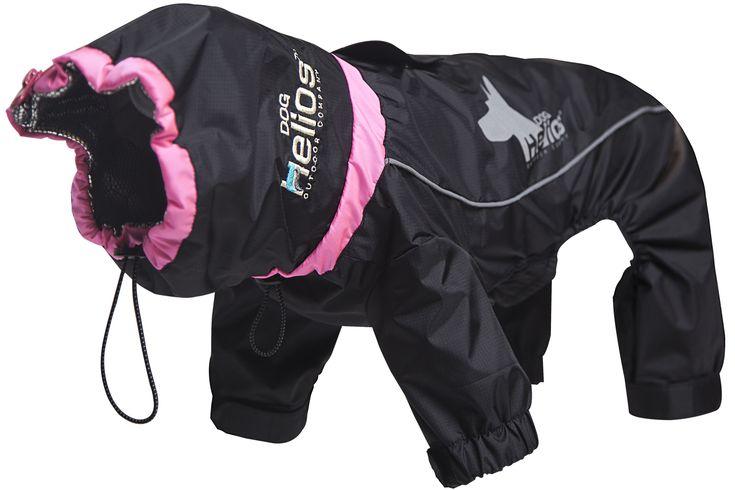 Helios Weather-King Ultimate Windproof Full Bodied Pet Jacket, Size: Medium, Black
