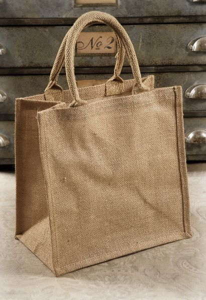 CUTE BRIDESMAID GIFT BAGS  Burlap Bags with Handles 12x12 (6 bags)