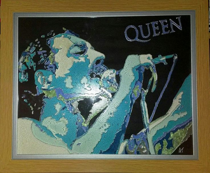 Freddie Mercury Glass Painting https://www.facebook.com/AngiesGlassworks?fref=ts