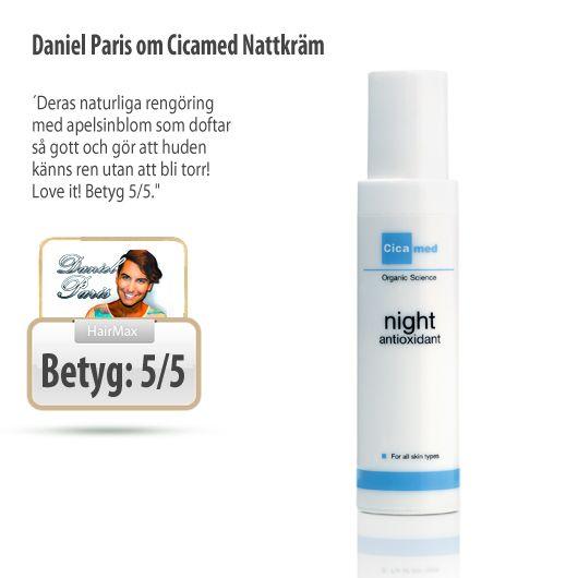 På natten återhämtar sig huden från dagens påfrestningar, och behöver en nattkräm som verkar lugnande och samtidigt är återuppbyggande. Cicamed Organisk Nattkräm Antioxidant optimerar förutsättningarna för hudens återhämtning under natten och fungerar för alla hudtyper!   http://www.hairmax.se/cicamed-organisk-nattkram-antioxidant