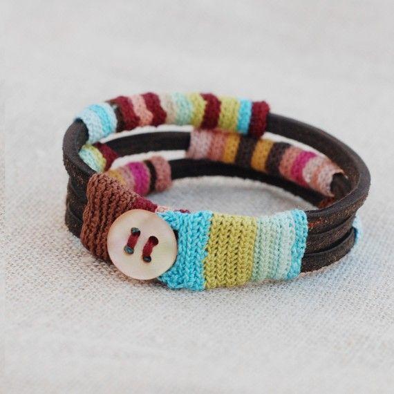 Pulsera con crochet! :O