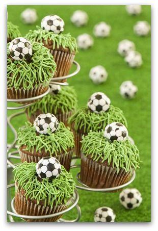 Fussball-Cupcakes - für kleine und große Fussballer!