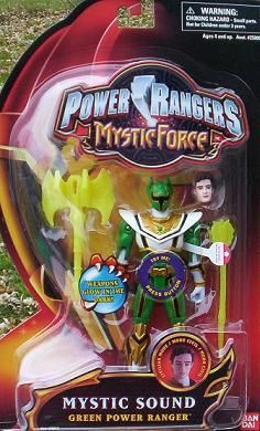 Power Rangers Mystic Force Green SOUND Ranger Action Figure NEW $28.99
