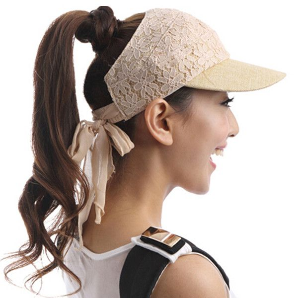 Fashion lace sun visor hat for women summer outdoor wear