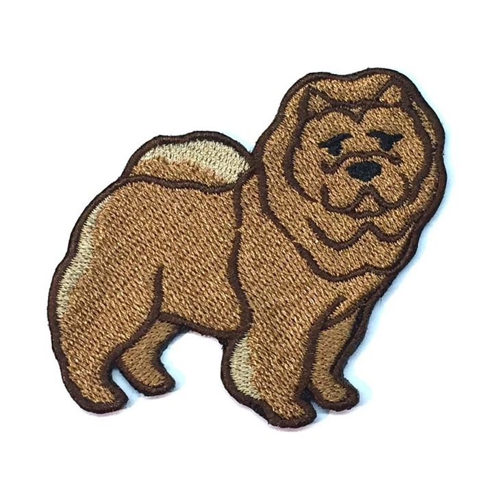 Chow Chow Iron On Embroidered Patch Iron On Embroidered Patches Iron On Patches Chow Chow