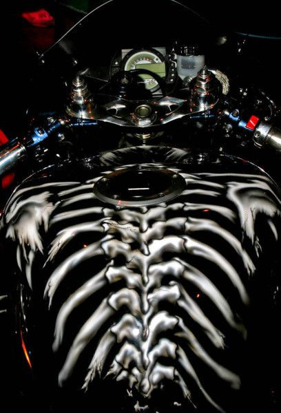 Wicked paint on motorcycle gas tanks…. - Men know why