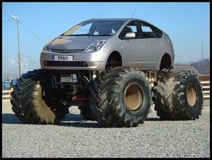 Prius Geologist Edition with the optional mudstone offroad tires