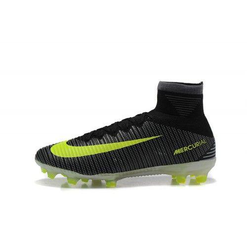 Bast Nike Mercurial Superfly V FG Fotbollsskor Svart Gron