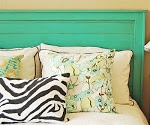 My Turquoise Headboard. Lots of photo. With link to detailed instructions by Ana White.