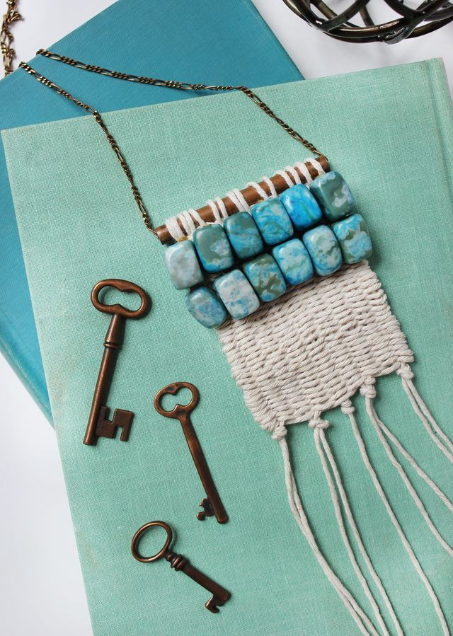 Woven Necklace DIY for ABM