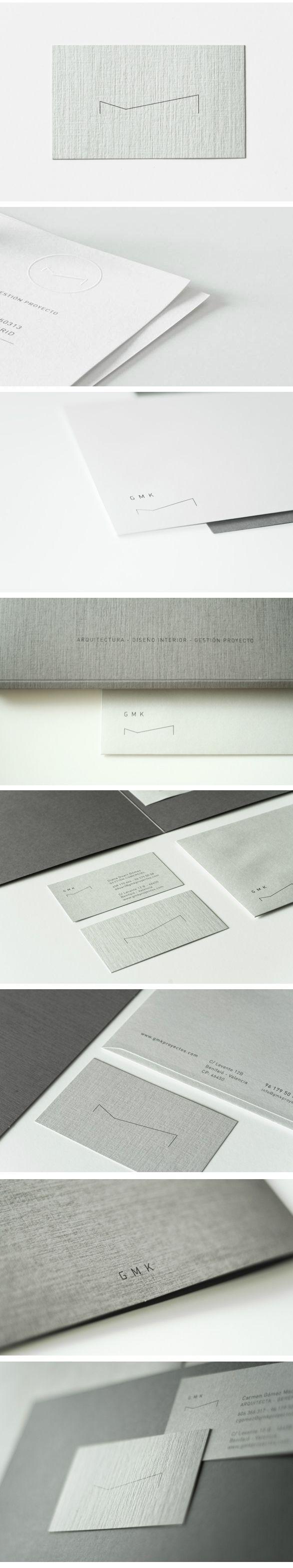 Brand Identity for GMK, architecture and interior design studio, by Alex Monzó via Behance