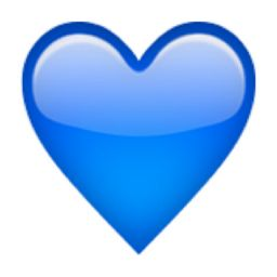 blue heart emoji u 1f499 u e32a emoji pinterest blue heart