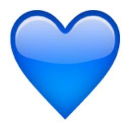 Blue Heart Emoji (U+1F499/U+E32A)