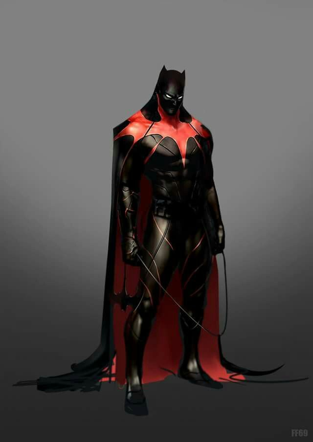 Looks like a Batman Black Panther merged suit.