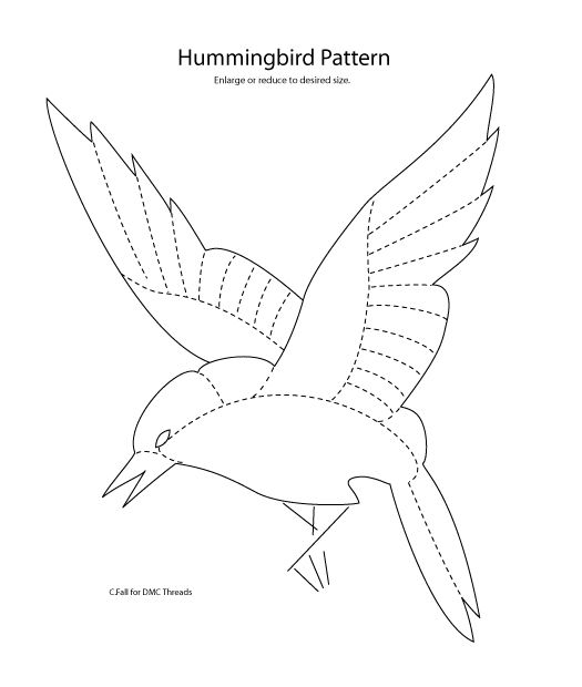 free patterns of hummingbirds