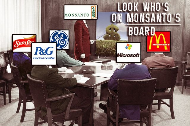 """With Friends Like These, Monsanto Doesn't Need Regulators...Does It? http://www.takepart.com/article/2014/02/18/monsanto-board-directors?cmpid=foodinc-fb """"The fight over GMO labeling isn't the first regulatory battle Monsanto has engaged in over the course of its 112 years in business."""""""
