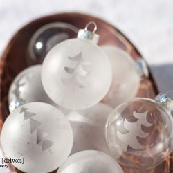 DIY – How to Etch Glass Holiday Ornaments