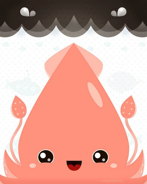 Colossal squid of happiness by roseycheekes.