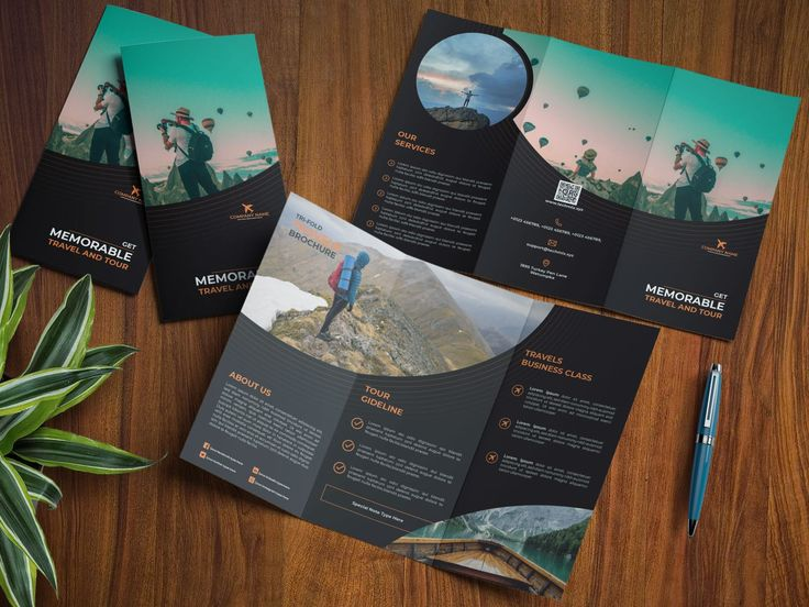 Travel Business Trifold Brochure in 2020 Business
