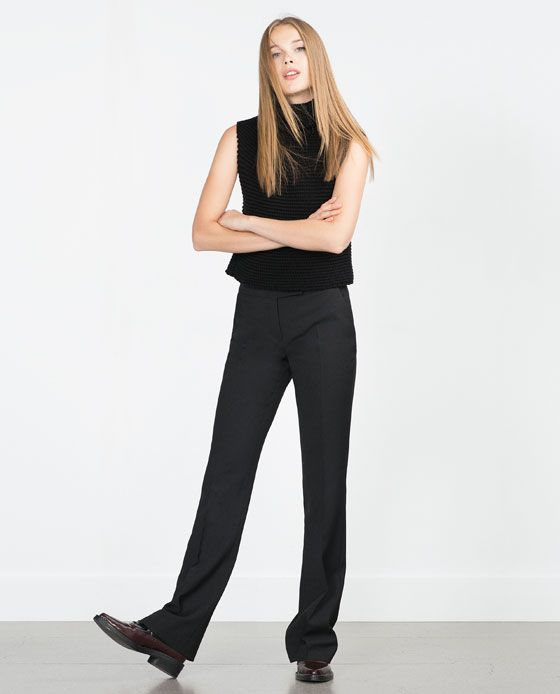 Image 1 of BOOTCUT TROUSERS from Zara