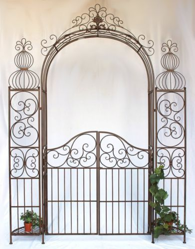 Rose-arch-with-Door-Gate-120853-From-Metal-Wrought-iron-265x190cm-Growth-support