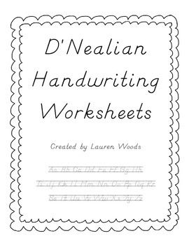Worksheets D Nealian Handwriting Practice Worksheets dnealian handwriting worksheets simple and first page