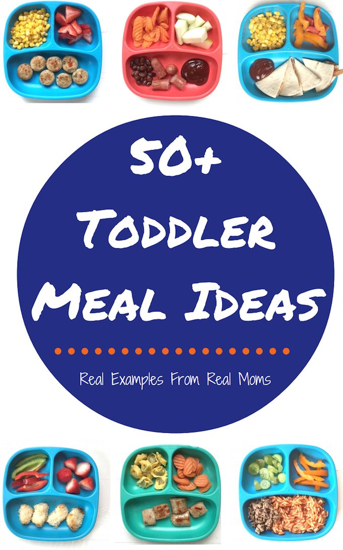 Tired of serving the same meals to your kids every day? Here are 50+ Toddler Meal Ideas from real moms to give you some inspiration for breakfast, lunch and dinner!