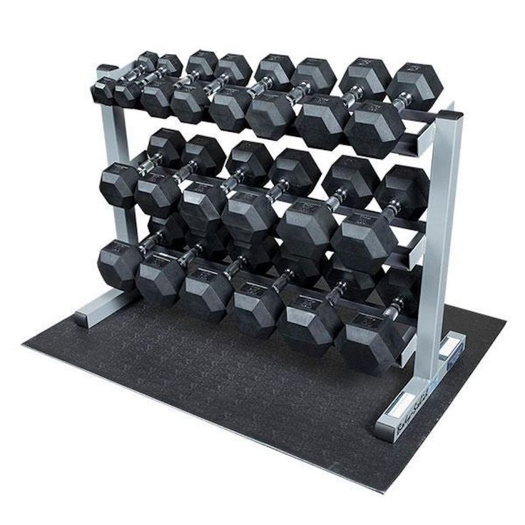 Weights belong in one of two places: in your hands or on a weight rack—not on the floor (unless you're in between sets, of course). Use one of these weight racks to keep your home gym in order.
