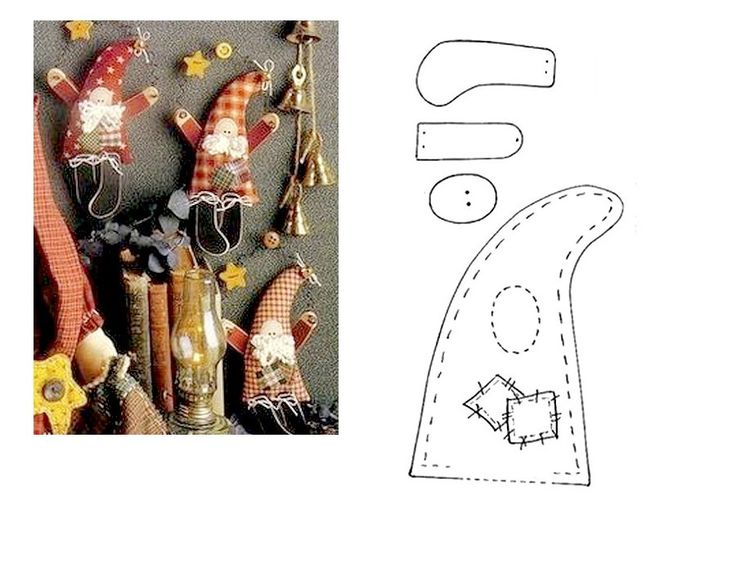 Cute folk santa ornament - no tutorial but there is a pattern and nice pic