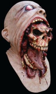 Realistic Halloween Horror Masks at www.merlinsltd.com: Demon escapes - Mask - Very Gory Latex horror mask - Masks, Halloween, Costumes, Realistic, Horror, Scary, Latex, mask,