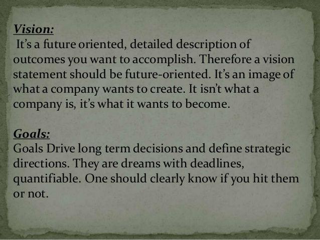future goals examples