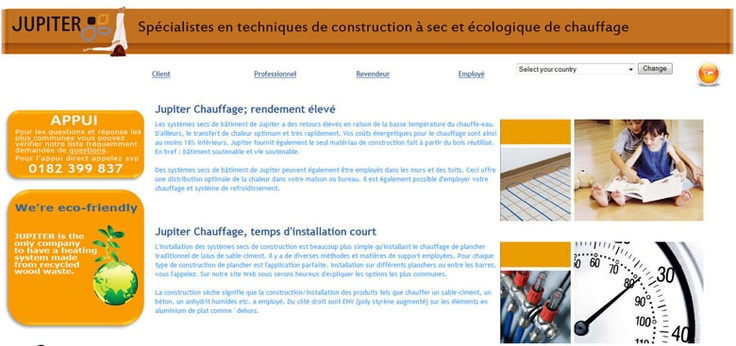 Meertalige website voor Jupiter Benelux met www.jupiter-ideal.com